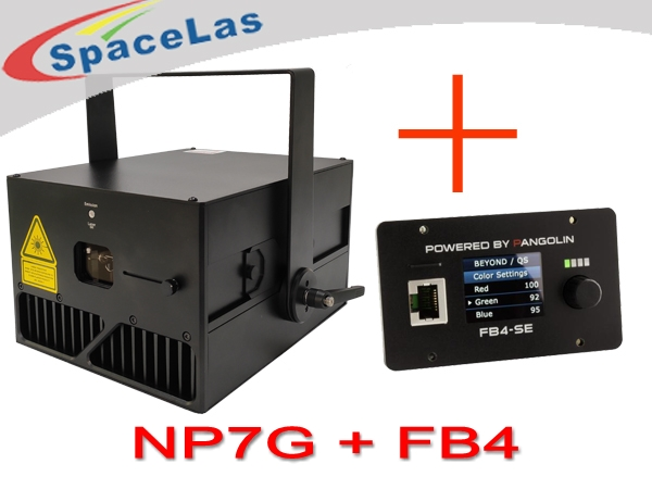 Competitive 7watt Green Laser Projector with FB4 inside