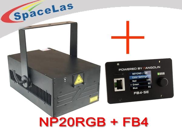 High power 20watt laser projector with FB4 laser show software