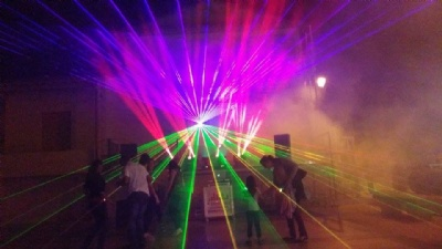 Laser show event