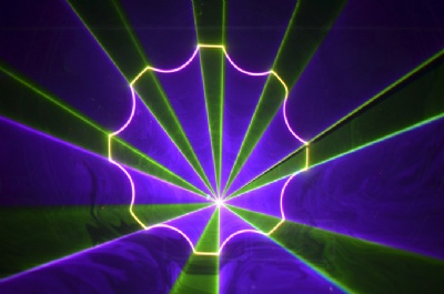 RGB laser show projector effect