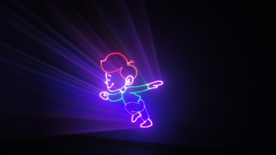 RGB laser show light projector Animation effect