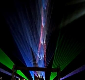 Guangzhou Tower with Laser Projector Video