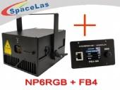 6Watt RGB laser projector with FB4 laser show software