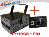 11Watt RGB show laser projector with FB4 laser show software
