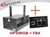 30Watt RGB showlaser projector with FB4 laser software